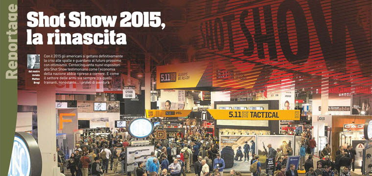 Matteo Brogi: On newsstands: Shot Show 2015 on Armi Magazine
