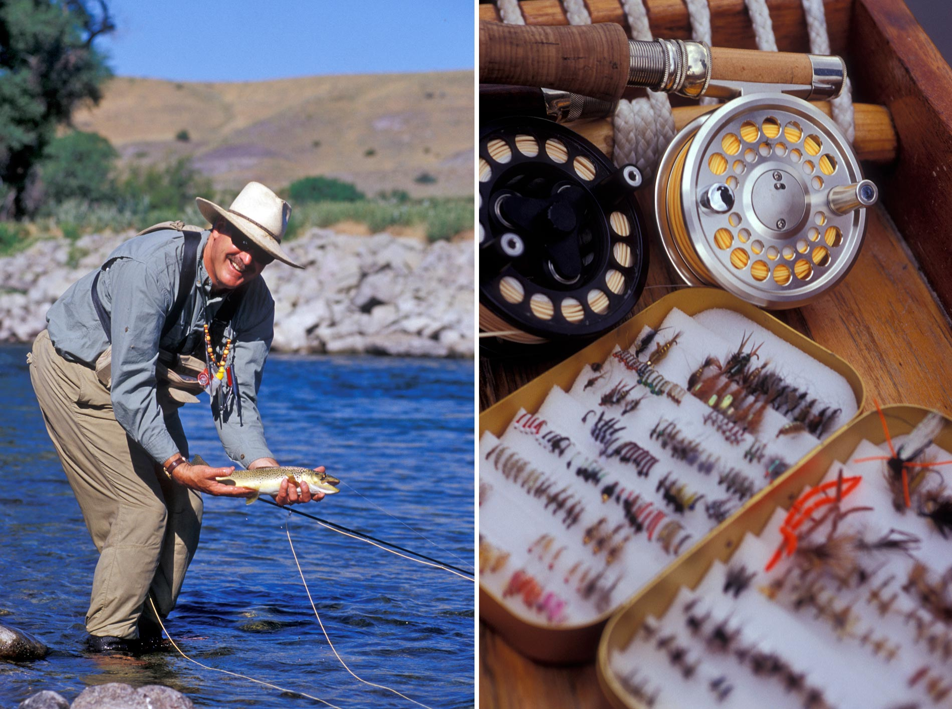 Fly fishing on Yellowstone River © Matteo Brogi